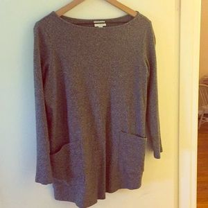 J Jill Gray Tunic Sweater